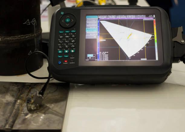 Dispositivo de prueba ultrasónico - foto de stock