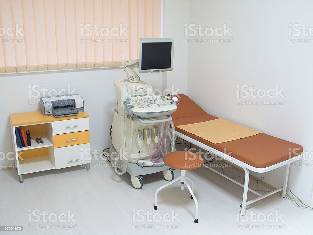 Ultrasound equipment royalty-free stock photo