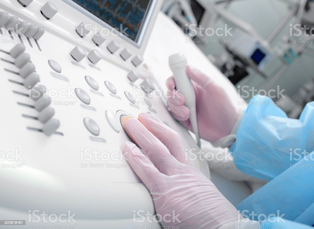 Ultrasound scanning in a modern clinic stock photo