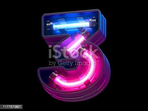 Ultraviolet neon futuristic.