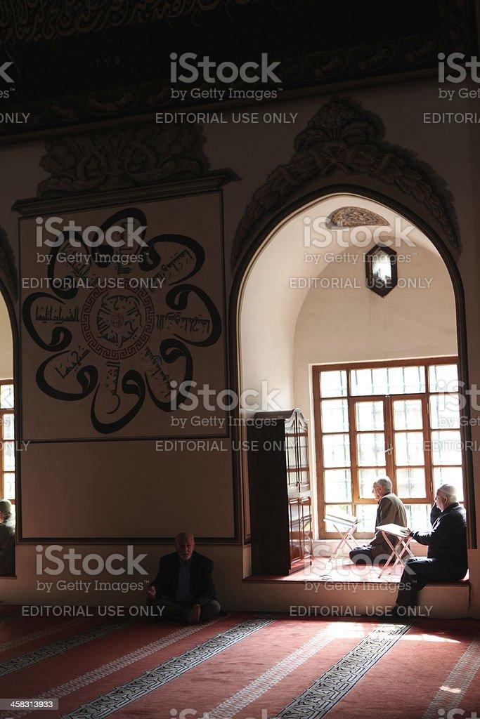 Ulu Mosque in Bursa,Turkey. stock photo