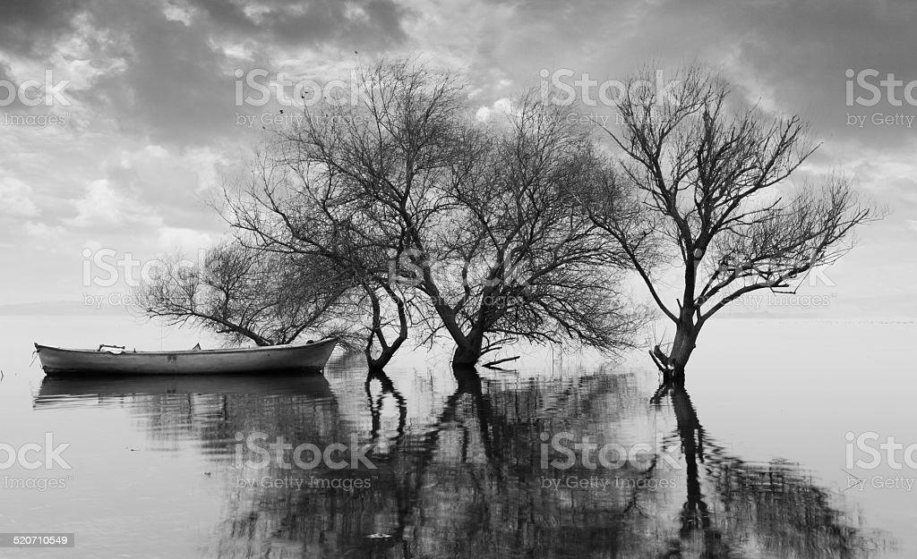 Uluabat lake in Turkey stock photo