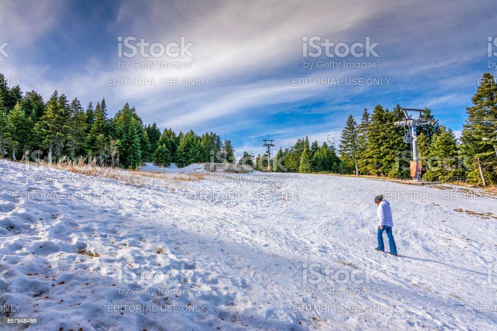 Uludag Mountain in Turkey stock photo