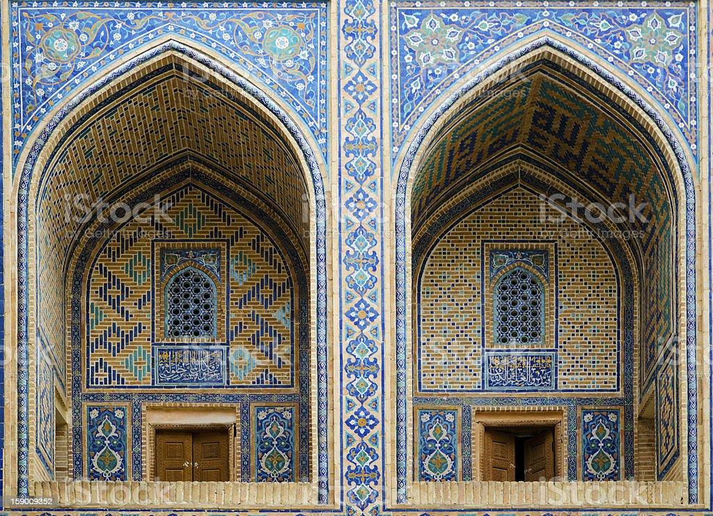 Ulugh Beg Madrassah in Samarkand stock photo