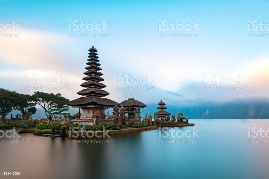 Ulun Danu Beratan Tempel, Bali, Indonesien. – Foto