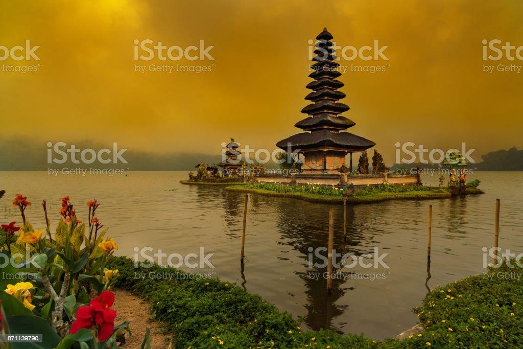 Ulun Danu Beratan Temple stock photo