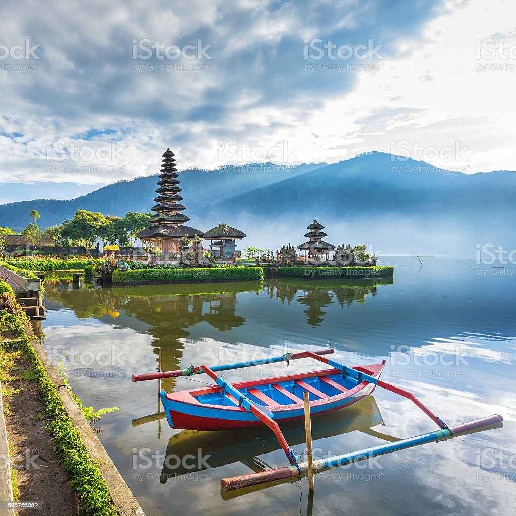 Pura Ulun Danu Bratan stock photo