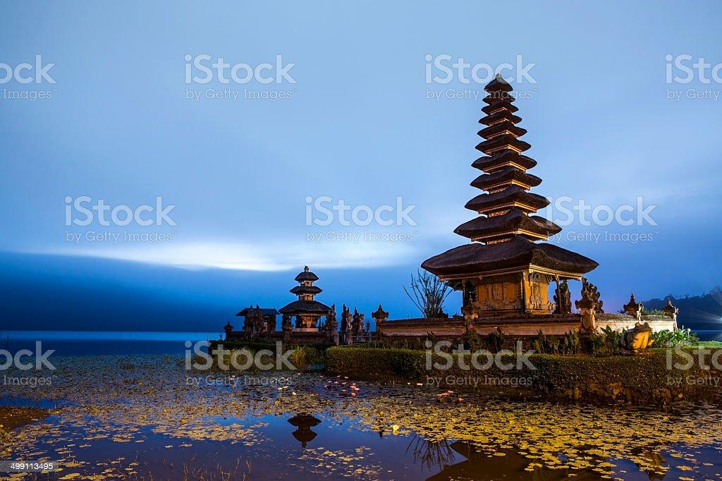 Ulun Danu holy Hindu temple in Bali stock photo