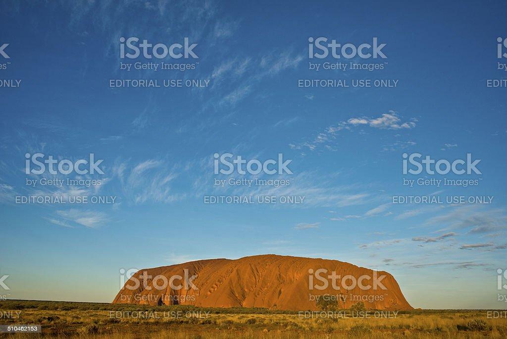 Uluru at Sunset stock photo