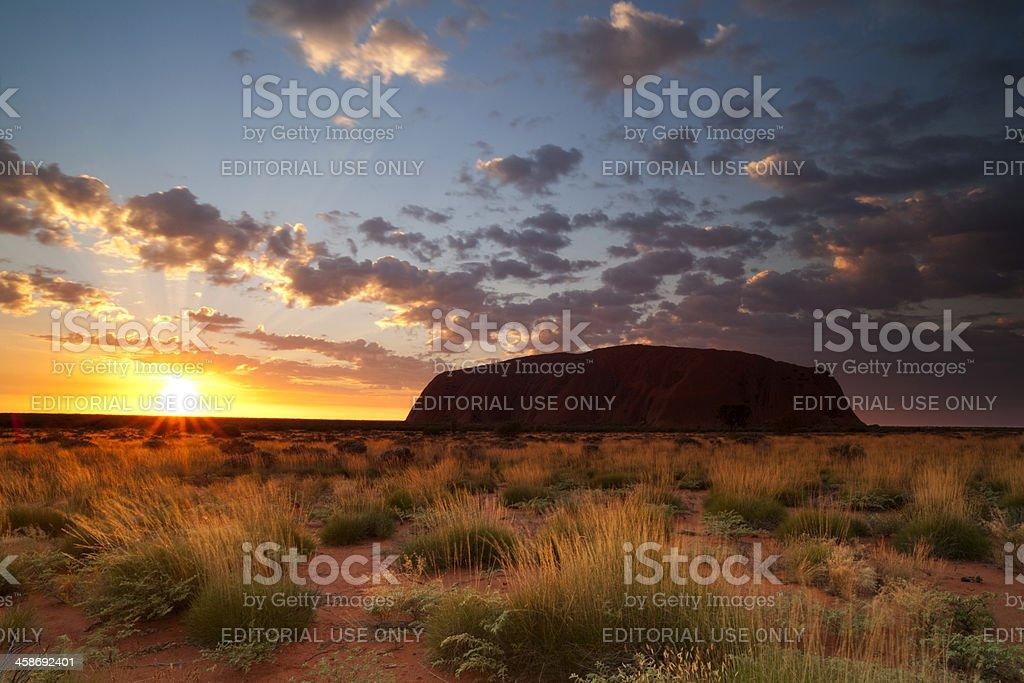Uluru Dawn stock photo