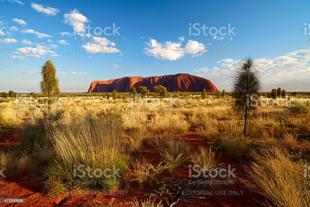 Uluru In Australia's Northern Territory stock photo