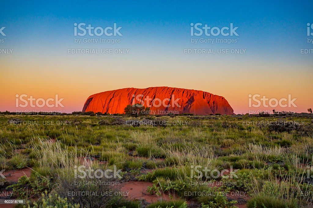 Uluru Sunrise stock photo