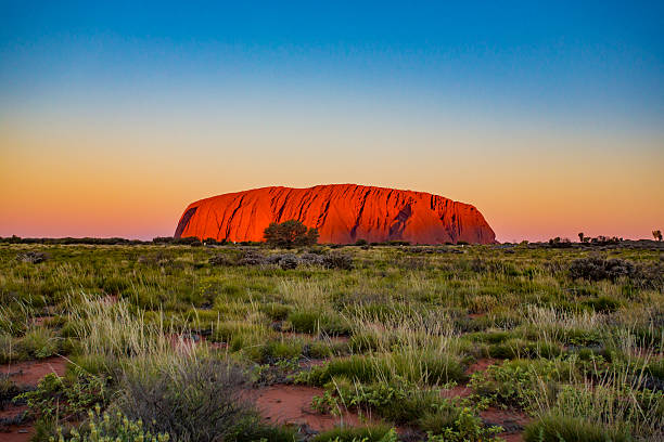 Uluru Sunrise stock photo