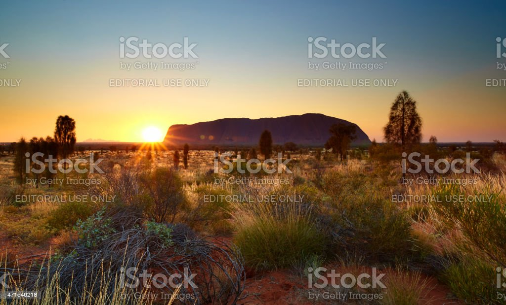Uluru Sunset stock photo