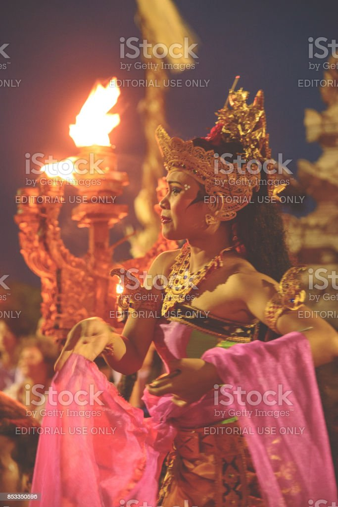 Uluwatu fire dance stock photo