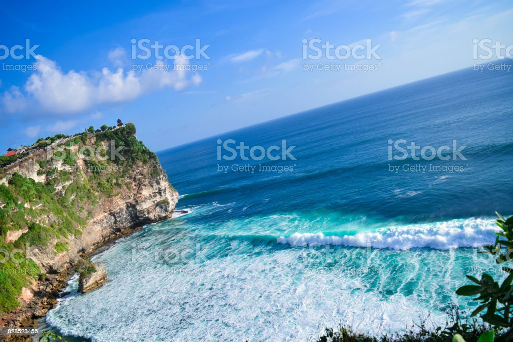 Uluwatu Temple cliff view stock photo