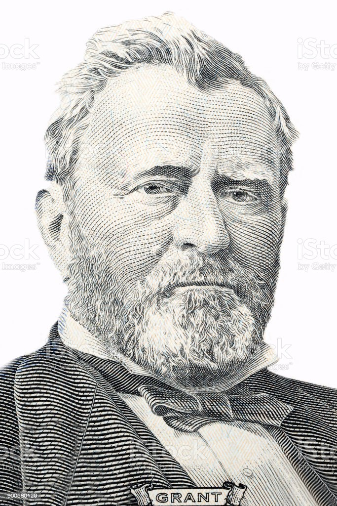 Ulysses Grant, portrait stock photo