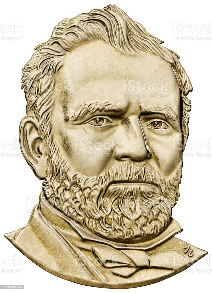 Ulysses S. Grant Portrait royalty-free stock photo