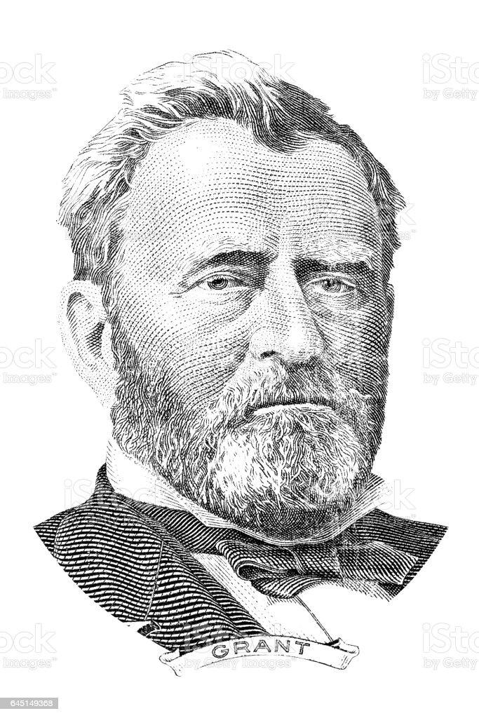 Ulysses S. Grant portrait stock photo