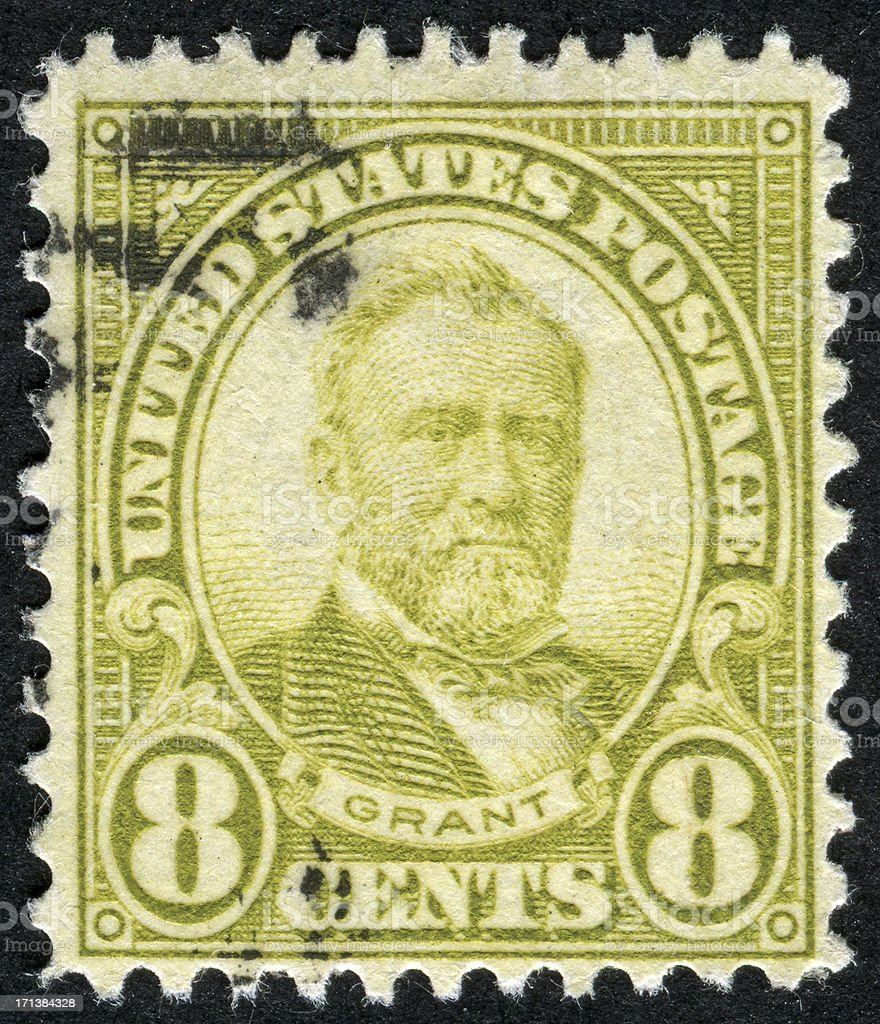 Ulysses S. Grant Stamp royalty-free stock photo