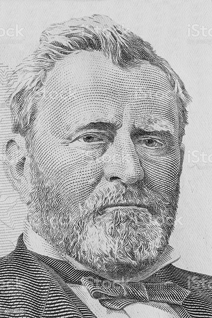 Ulysses Simpson Grant stock photo