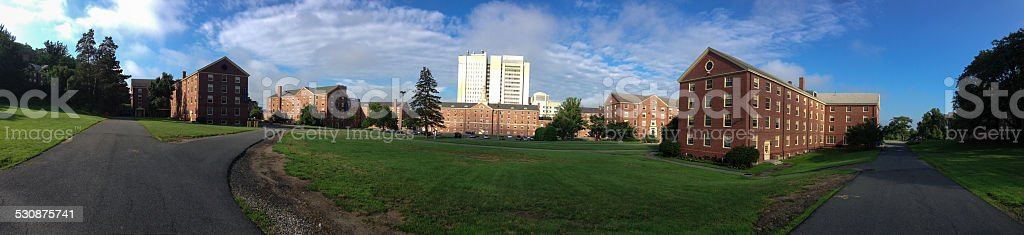 UMass Amherst residential area stock photo