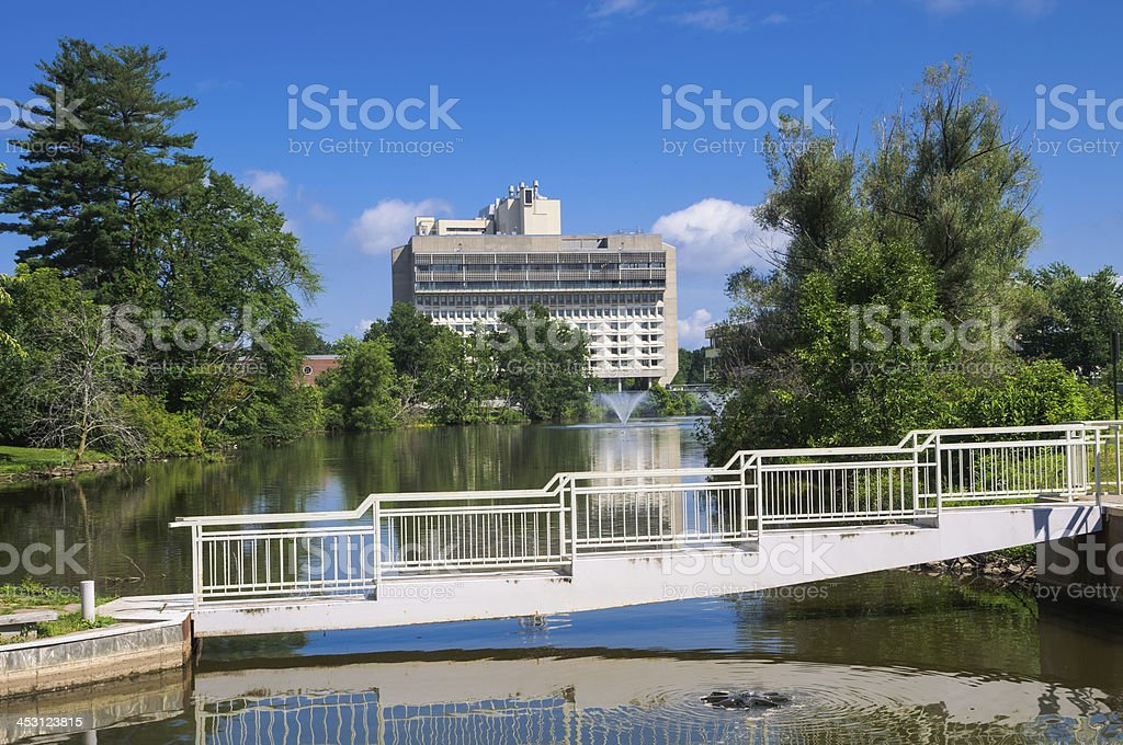 UMass-Amherst Campus Center and Hotel stock photo
