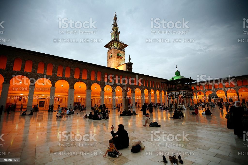 Umayyad Mosqu stock photo
