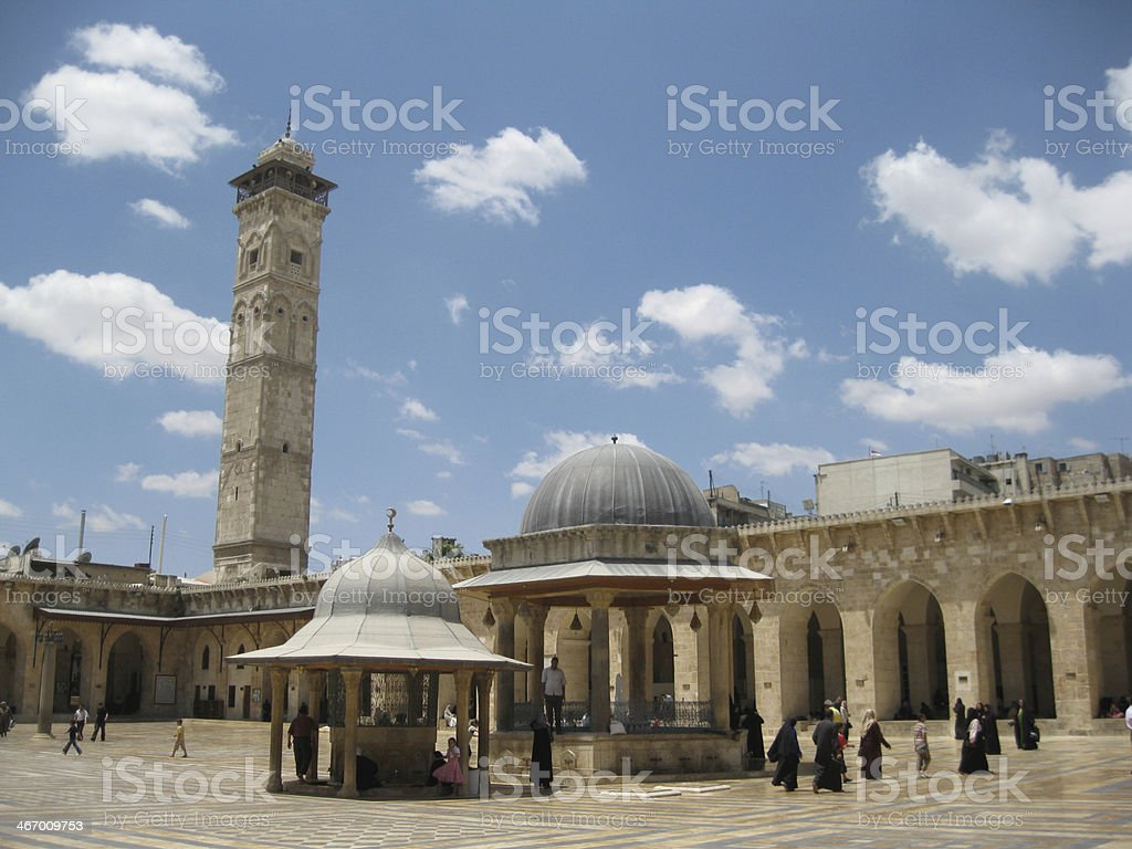 Umayyad Mosque in Syria, Aleppo stock photo