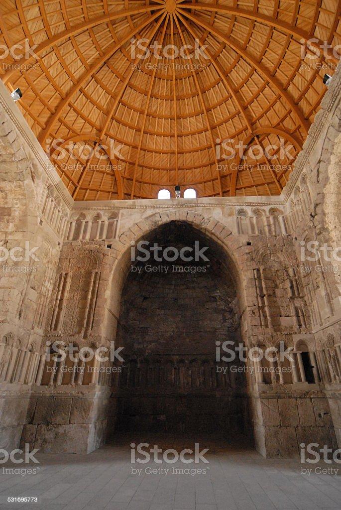 Umayyad Palace dome, Amman, Jordan stock photo