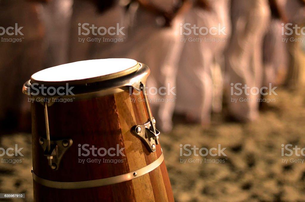 Umbanda Group and Atabaque stock photo