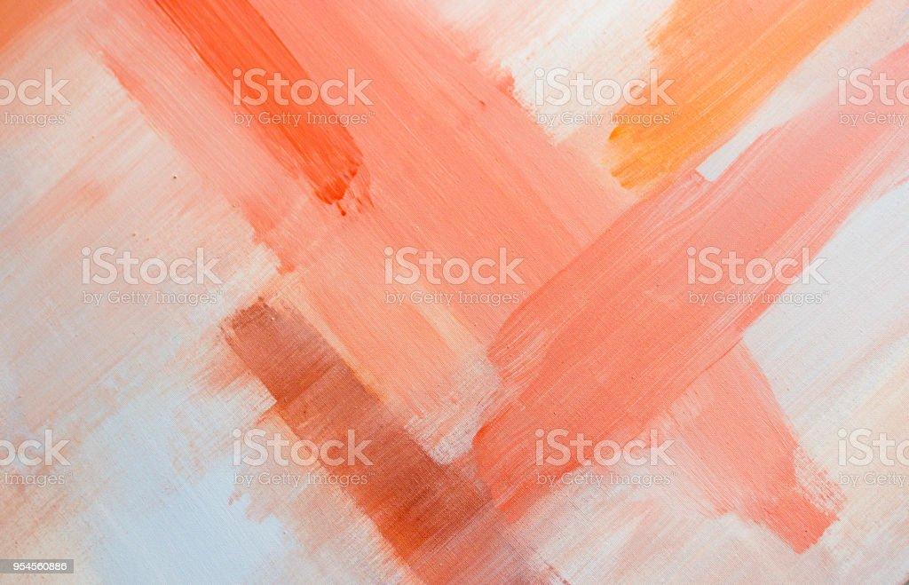 Umber and orange artwork stock photo