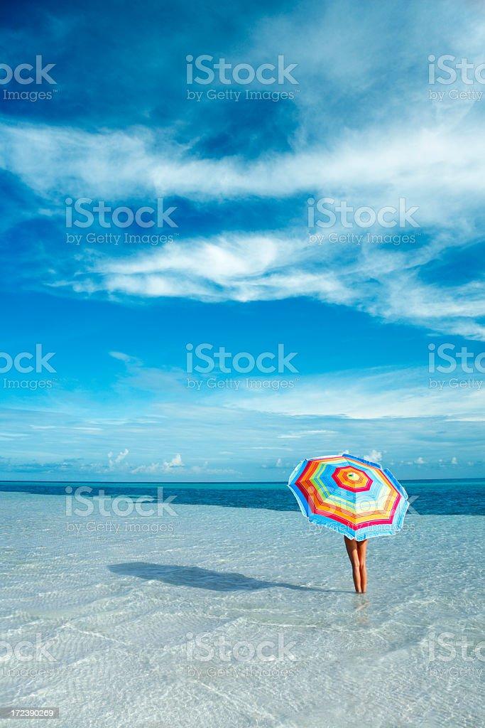 umbrella and dramatic sky royalty-free stock photo