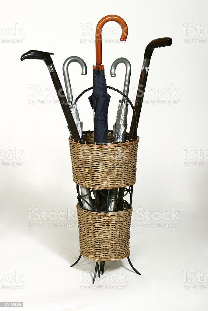 umbrella basket royalty-free stock photo