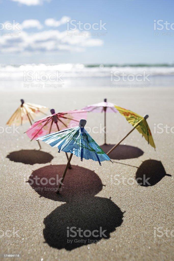 Umbrella Beach royalty-free stock photo