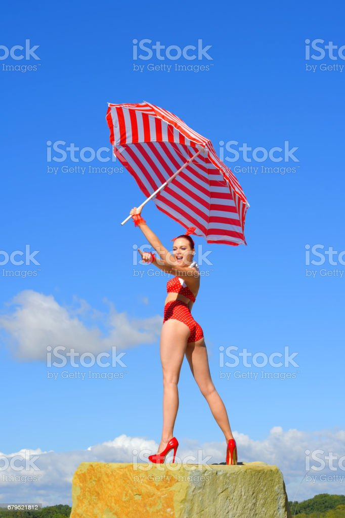 Umbrella Beauty royalty-free stock photo