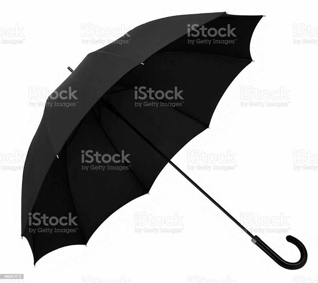 umbrella black opened royalty-free stock photo