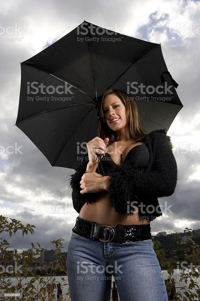 Parapluie de joie photo libre de droits