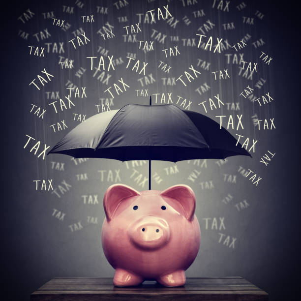 Umbrella for protecting piggy bank savings from tax – Foto