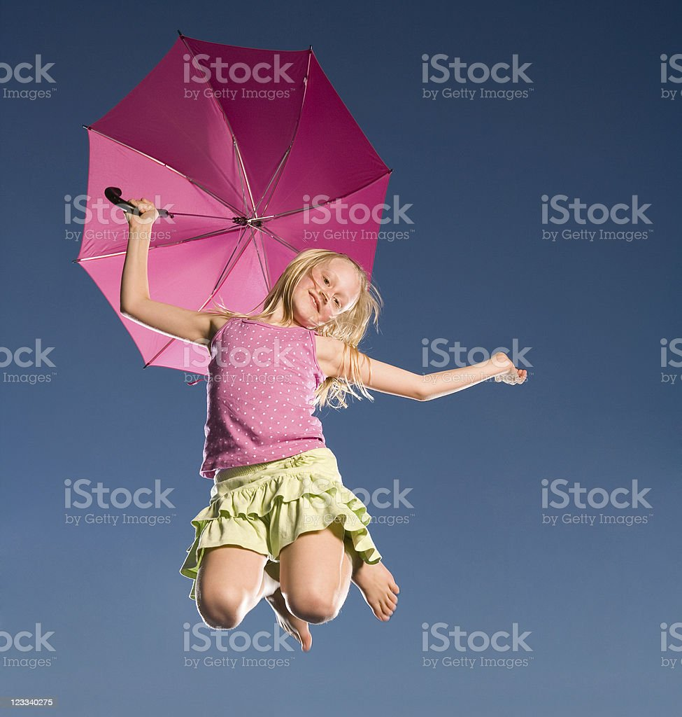 Umbrella Girl royalty-free stock photo