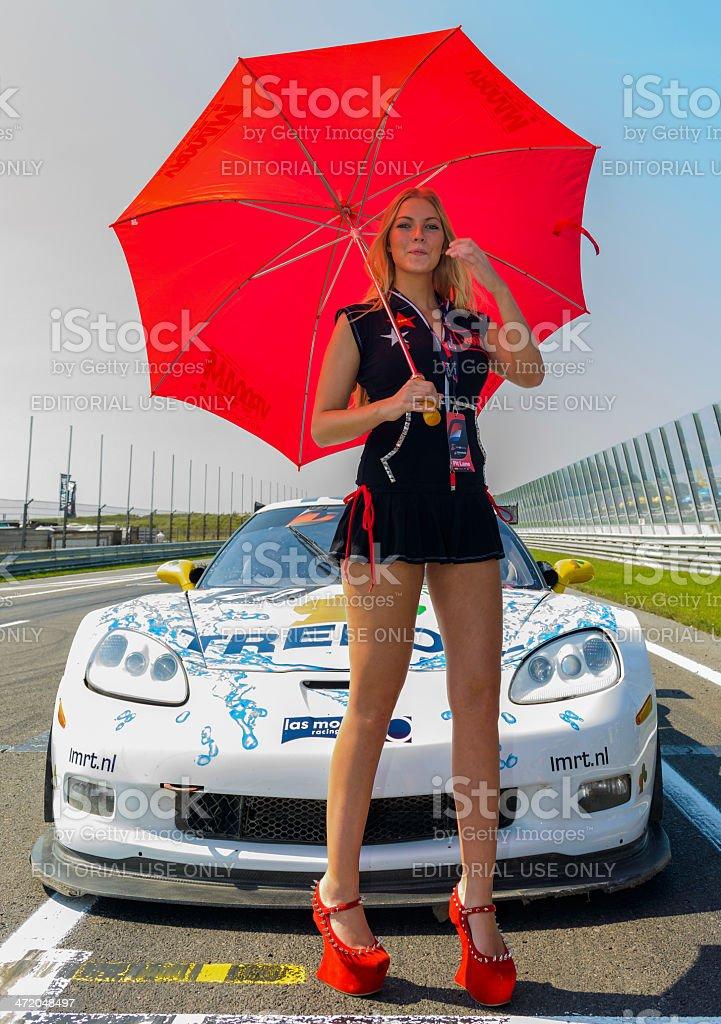 Umbrella girl stock photo