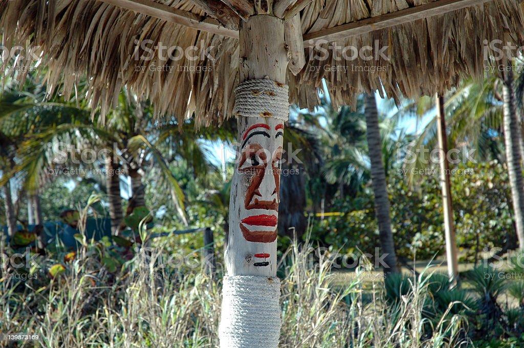 Umbrella in Cuba royalty-free stock photo