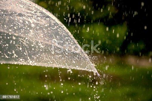 691761646istockphoto Umbrella in the rain 691761612
