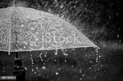 istock Umbrella in the rain 691761614