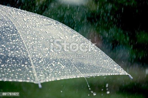 691761646istockphoto Umbrella in the rain 691761622