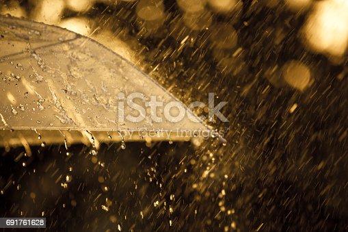 691761646istockphoto Umbrella in the rain 691761628