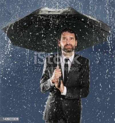 istock Umbrella Man - False Security 143922328