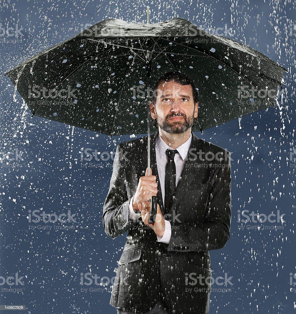 Umbrella Man - False Security stock photo