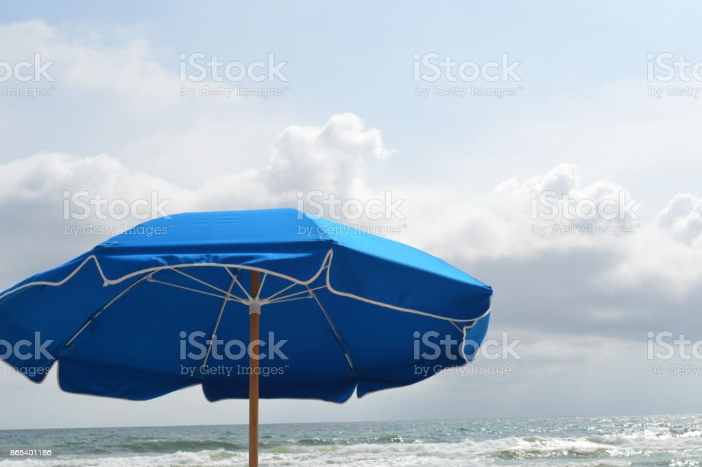 Umbrella on Beach stock photo
