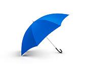 Umbrella on a white background. 3D illustration.